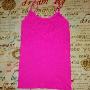 Hot pink sparkly Bingo tank